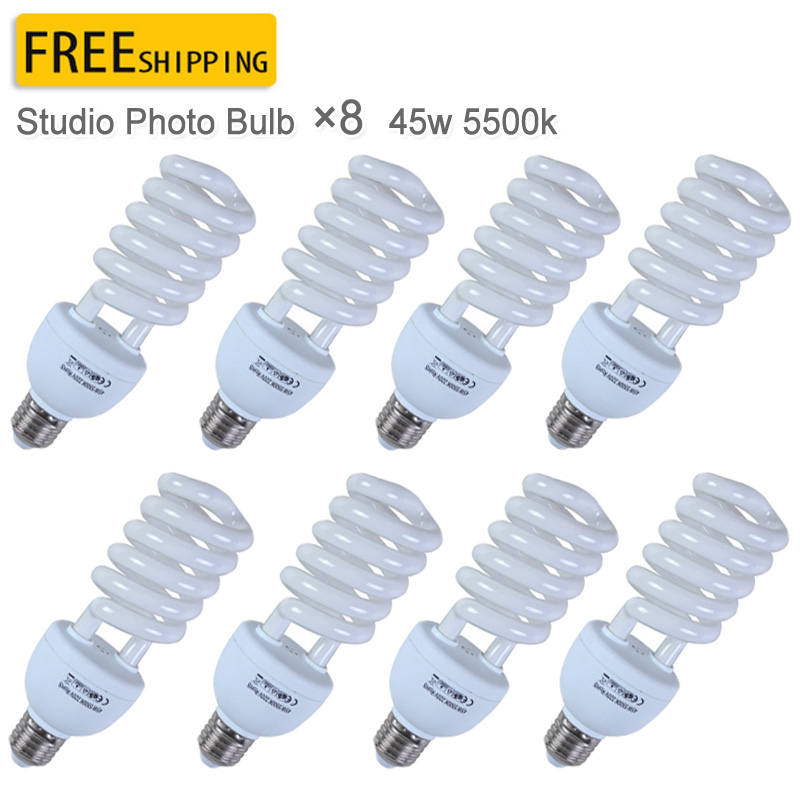 Photo studio 45W Bulbs Photography Lighting Kit E27 Screw 220V 5500K 8pcs Inroom Light Photo Studio Bulb Lamps майка print bar playboy girl