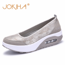 JOKIHA Women Flat Platform Shoes Woman Loafers Fashion Women's Slip On Shallow Swing Casual Shoes Women Flats zapatos de mujer