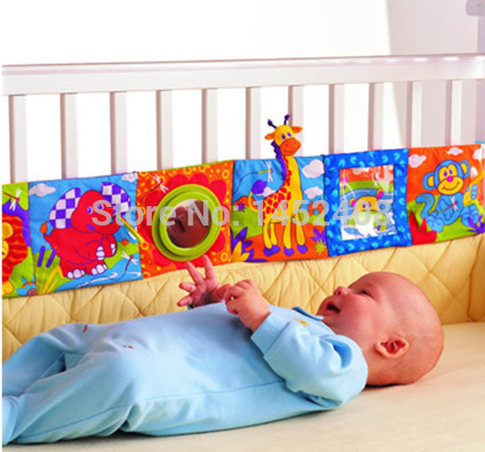 Baby Toy Baby Cloth Book Knowledge Multi-touch Multifunctional Early Education Bed Around Colorful Fun Baby Cloth Book