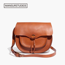 MANSURSTUDIOS women genuine leather crossbody bag ,Famous Brand real saddle bag,MDW Shoulder ,freeshiping
