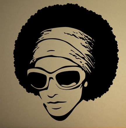 African Girl Vinyl Wall Decal Sexy Afro BeautifulGirl Ebony Mural Wall Sticker Hair Salon Bedroom Home Decoration