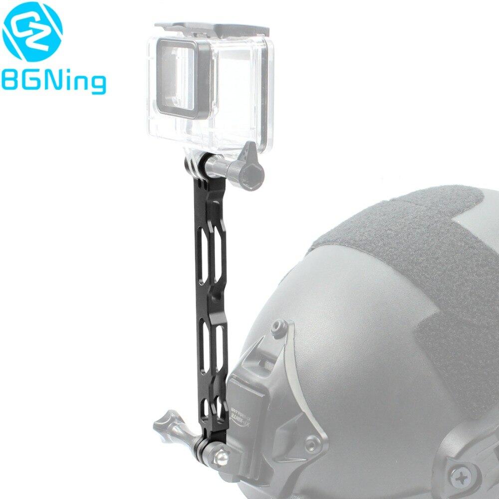 BGNING Aluminium Extension Arm Metal Pole Mount Helmet Tactical Grip For Gopro Hero 3 3+ 4 5 6 7 Eken Yi 4K SJCAM Selfie Pole