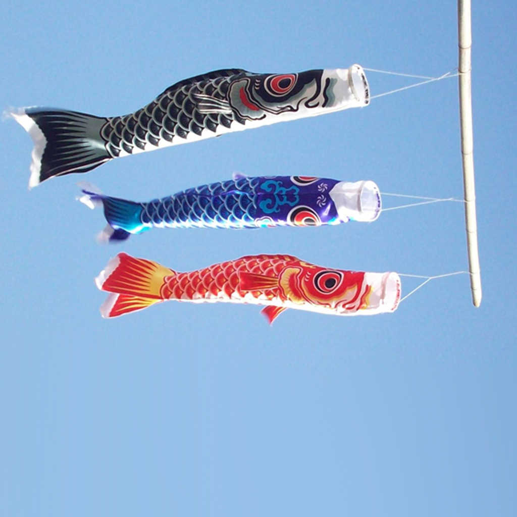 4pcs 70cm Japanese Windsock Carp Flag Koi Nobori Sailfish Wind Streamer Hanging Decor