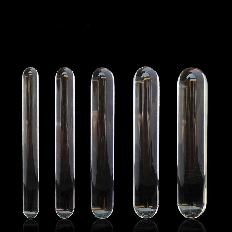 AUEXY Double Heads Butt Plug Glass Dildo and Clean Sanitary Huge Crystal Anal Beads Fake Gay Sex Toys