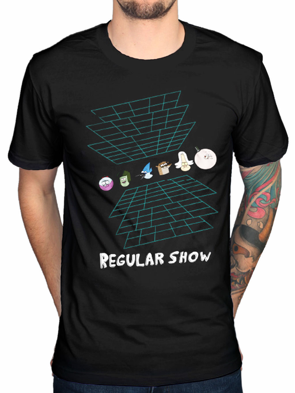 Official The Regular Show Virtual Reality T-Shirt Mordecai Cartoon Network Rigby Men T Shirts Great Quality Funny Man Cotton ...