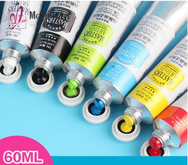 Freshipping 60ml MASTER Series Senior Professional Oil Paint Aluminum Tube High Quality  Marie's Master Oil Colour Pure  Pigment