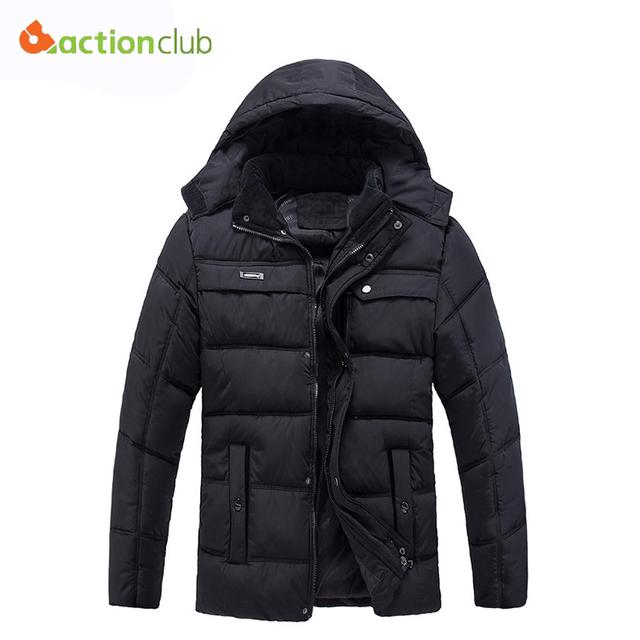 Homens Casaco de inverno Quente Para Baixo Inverno Jaqueta de Algodão Dos Homens Tamanho Grande Jaquetas Com Capuz Casaco Blusão Grosso Vestuário de Moda