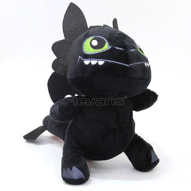 Como treinar O Seu Dragão Desdentado Fúria Da Noite Toy Plush Macio Stuffed Animal Boneca de Presente de Natal
