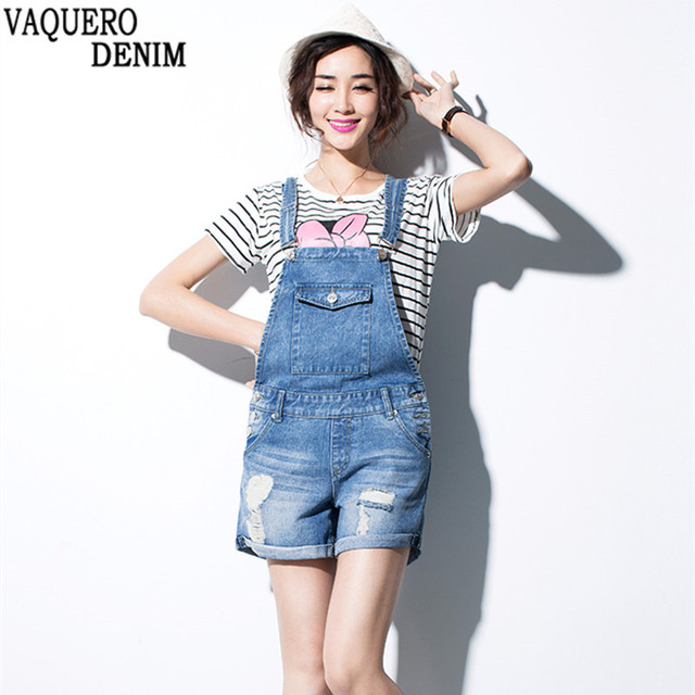 6a134e8f78f9 New 2016 XS-XL Top Quality Women Girls Washed Jeans Denim Casual Hole Jumpsuit  Romper Overalls Light Blue Jeans Shorts Pants B03