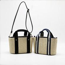 Women Straw Handbag New Fashion Braided  High Quality Rattan Bag Beach Crossbody Bohemin Style Summer Bags