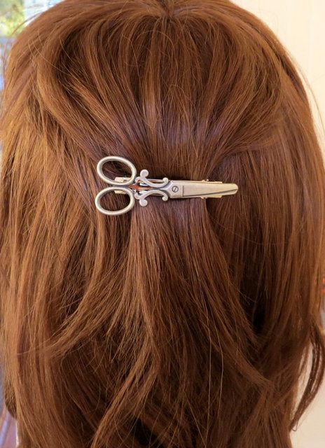 H794 096 10pcs Lot Free Shipping Hot Ing New Trendy Women Hair Accessories Scissors