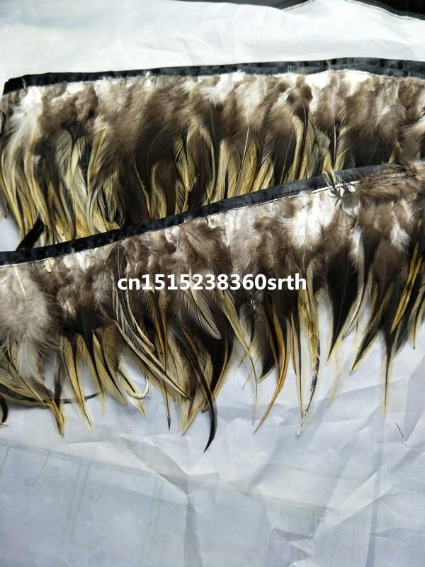 Nouveau 12-15 cm/5-6 pouces de large 100 yards rare naturel aigle plumes rubans décoratif bricolage vêtements et accessoires scène performance