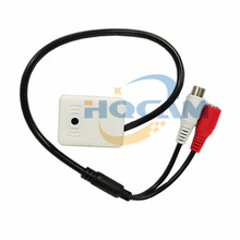 New CCTV Mic Microphone Sound Pick-Up Monitor Voice Audio RCA OUTPUT for Security Cameras DVRs, One to two power cord free