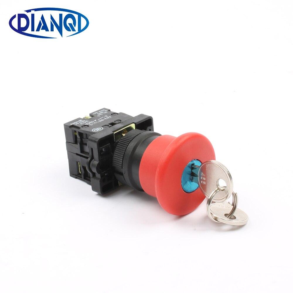 Xb2-es145 ключ сброса Кнопка аварийной остановки глава 40 мм N/C N/O кнопочный переключатель,