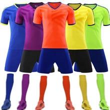 Высокое качество 18 19 мужские трикотажные изделия униформа для футбольной команды игры Университетская форма футбольные наборы футбол для взрослых и детей QD013