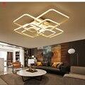 Квадратные Кольца  потолочные светильники для гостиной  спальни  дома  AC85-265V  современные светодиодные потолочные светильники  lustre plafonnier