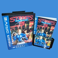 Streets Of Rage 3 With Box And Manual 16bit MD Game Card For Sega Mega Drive