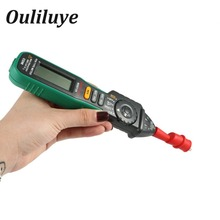 Pen Type Digital Multimeter Multimetro Auto Range DC AC Voltage Current Tester Indicator Meter Non-Contact Digital Voltmeter