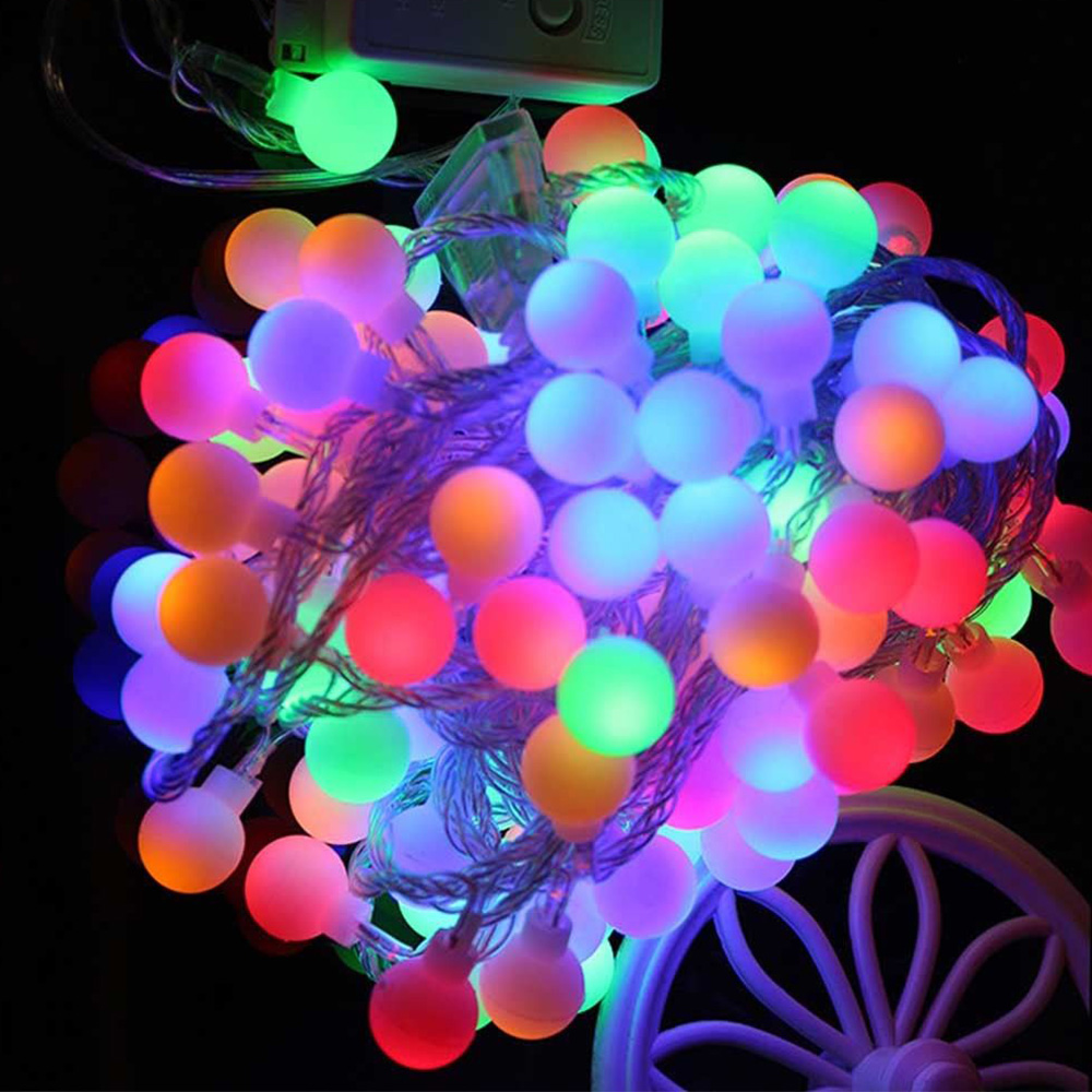 Us 6 5 25 Off 28pcs 40pcs Led Outdoor Multicolor Led String Lights Christmas Lights Holiday Wedding Party Decoration Luces Led Glow Party In Glow