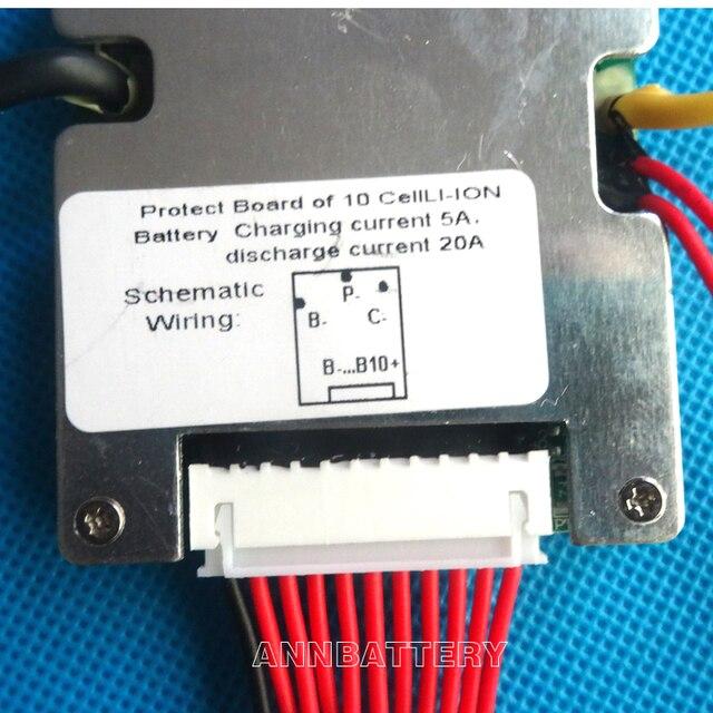 36V li-ion batterie BMS, 36V 20A lithium-ionen batterien BMS, mit ausgewogene funktion und AUF/OFF schalter.