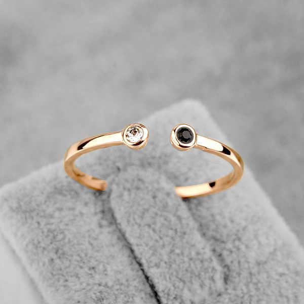 Neue Verkauf Marke TracysWing Österreich Kristall Ring Kupfer gold Farbe Ringe für Frauen Öffnungen ring # RA11542Rose