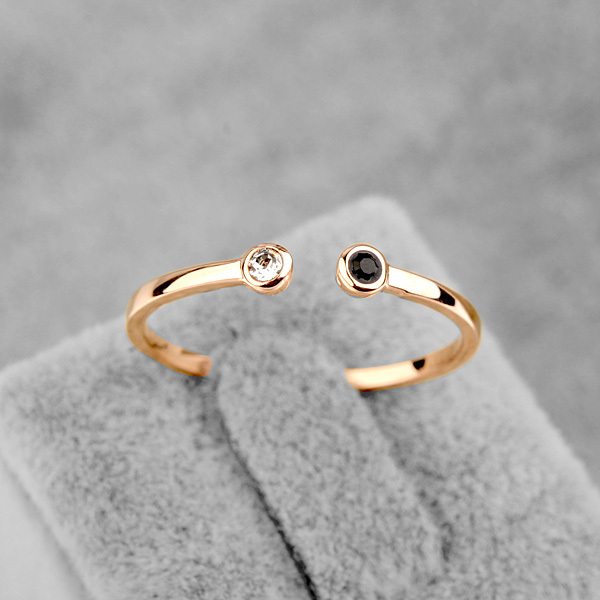 New Sale Brand TracysWing Austria Crystal Ring Copper gold Color Rings for Women