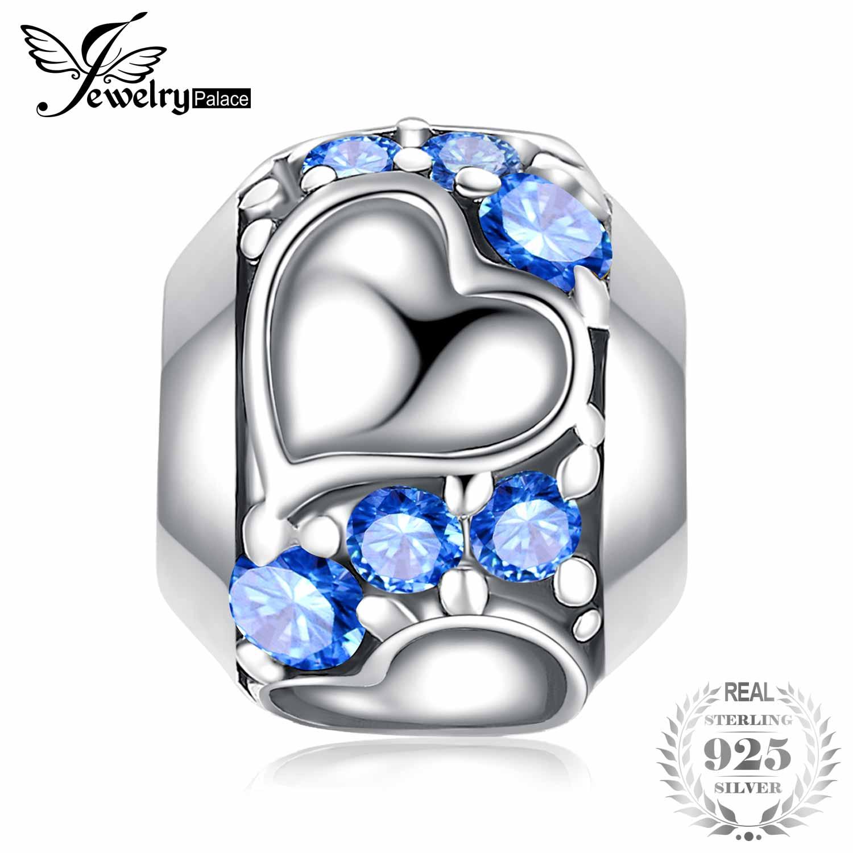 Zielsetzung Jewelrypalace Treu Herz 0.4ct Blau Zirkonia 925 Sterling Silber Charms Perlen Neue Heißer Verkauf Schöne Geschenke Schmuck & Zubehör Anhänger