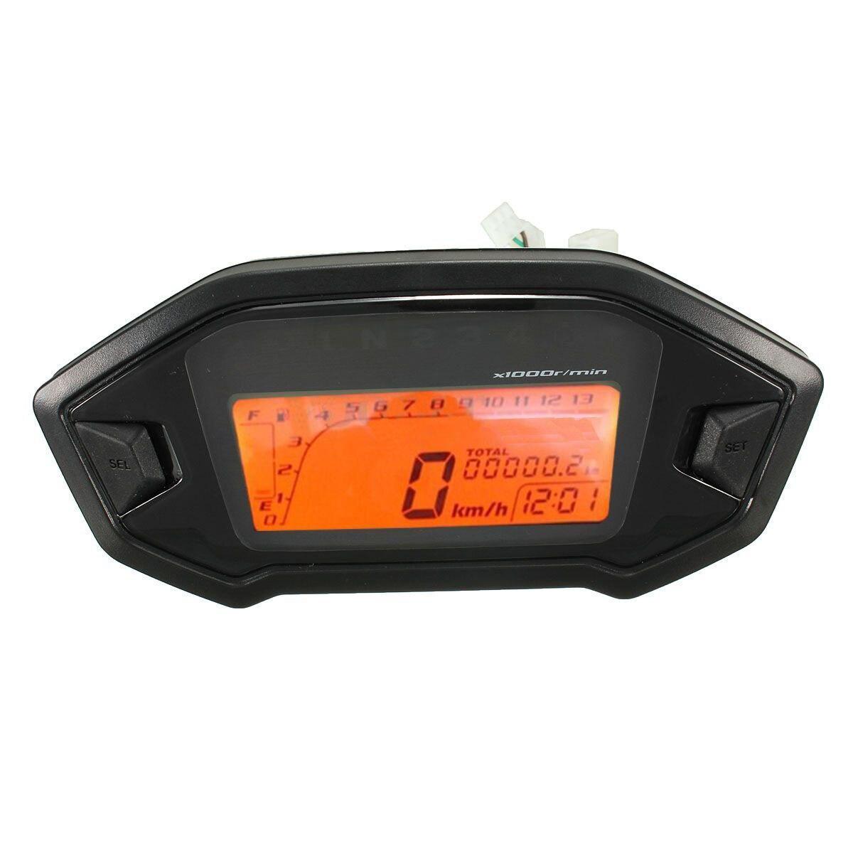 3 Pcs of (Motorcycle Odometer Speedometer Tachometer Gauge Universal LCD Digital Backlight)