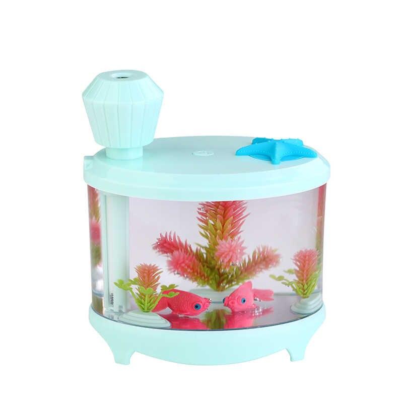 Humidificador ultrasónico del coche del hogar purificador de aire USB máquina de atomización fabricante de niebla Mini tanque de peces humidificador Acquario