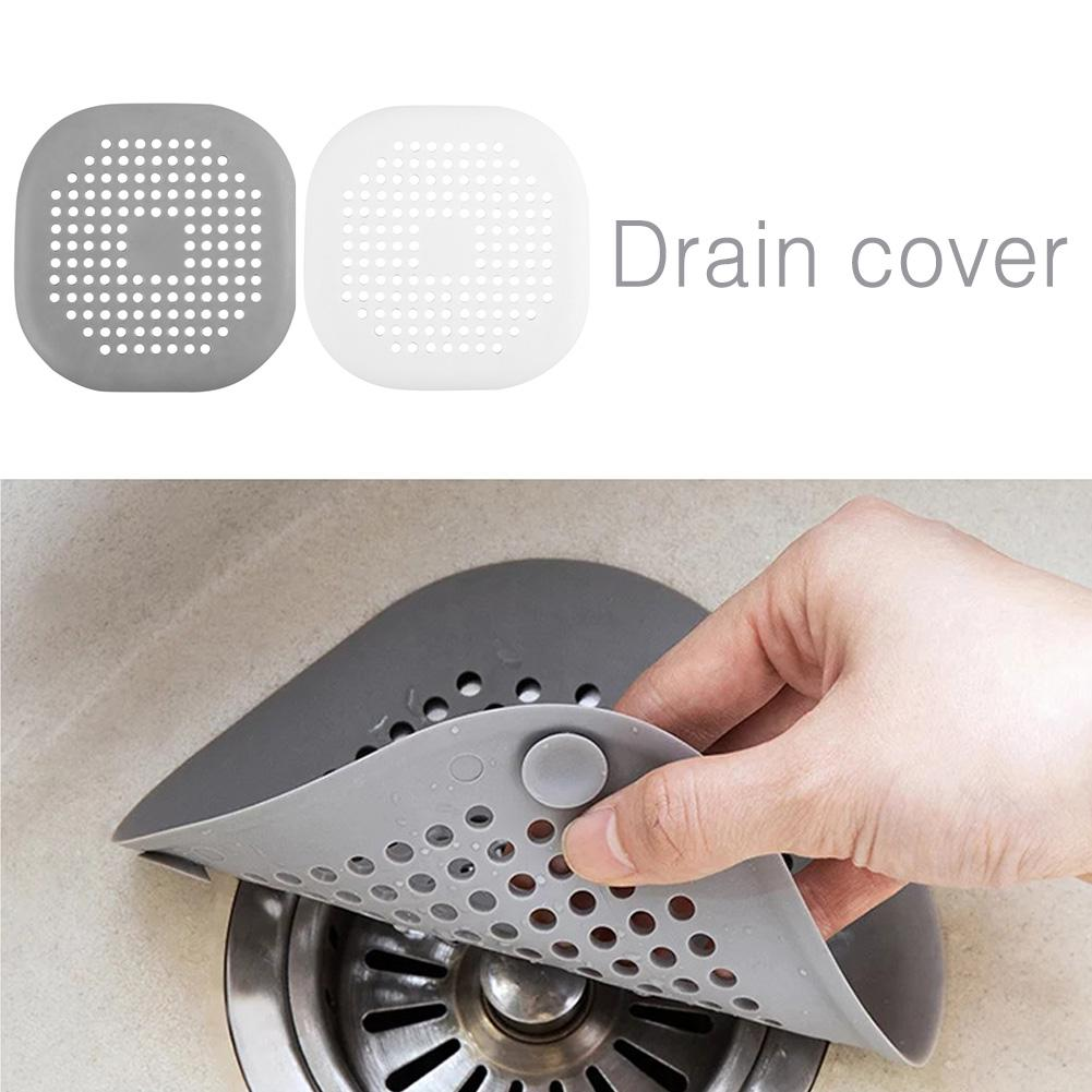 Silicone Honeycomb Floor Drain Cover Plain Hair Filter Kitchen Sink Filter Bathroom Bathtub Sewer Anti-clogging Floor Drain