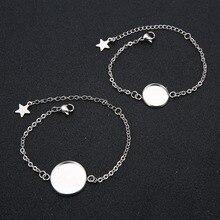XINYAO 5pcs/lot Stainless Steel Charm Stars Bangles Bracelet