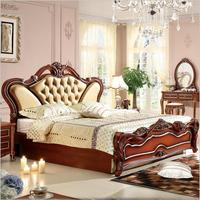 high quality European antique bed French bed 1.8 m king size p10216