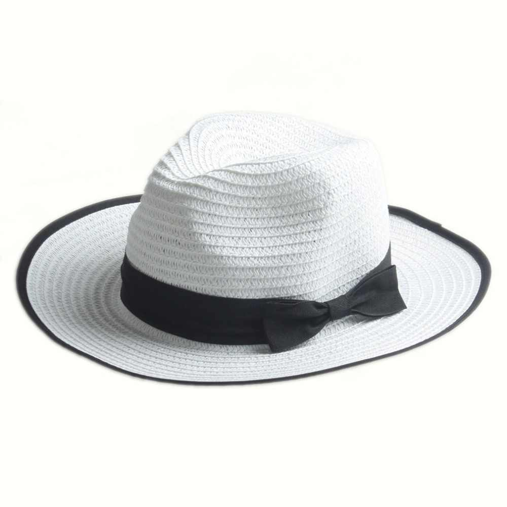 Childred Girls Summer straw Sun hat Kids Boho Beach wide Brim Fedora hat Sunhat Panama Hat Gangster sombrero Cap Good Pack 20