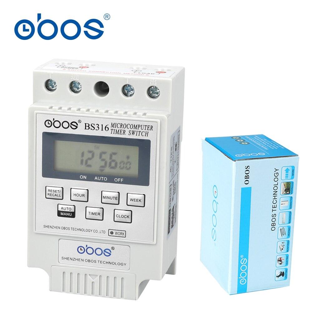 Недавно 25A 240 В программируемый таймер din цифровой таймер с 10 раз включить/выкл в день/еженедельная время установить диапазон 1 мин.-168 H