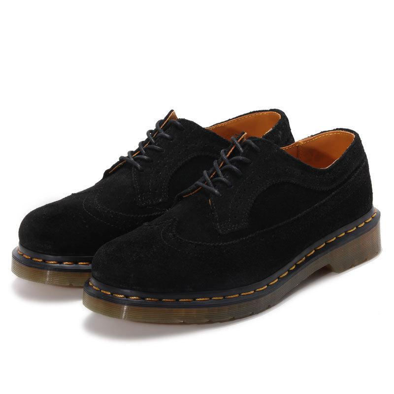 Fashion Casual Black Carving Martin Shoes Spring Autumn Leather Boots Unisex Lace-up Shoes Motorcycle Ankle Leather Shoes front lace up casual ankle boots autumn vintage brown new booties flat genuine leather suede shoes round toe fall female fashion