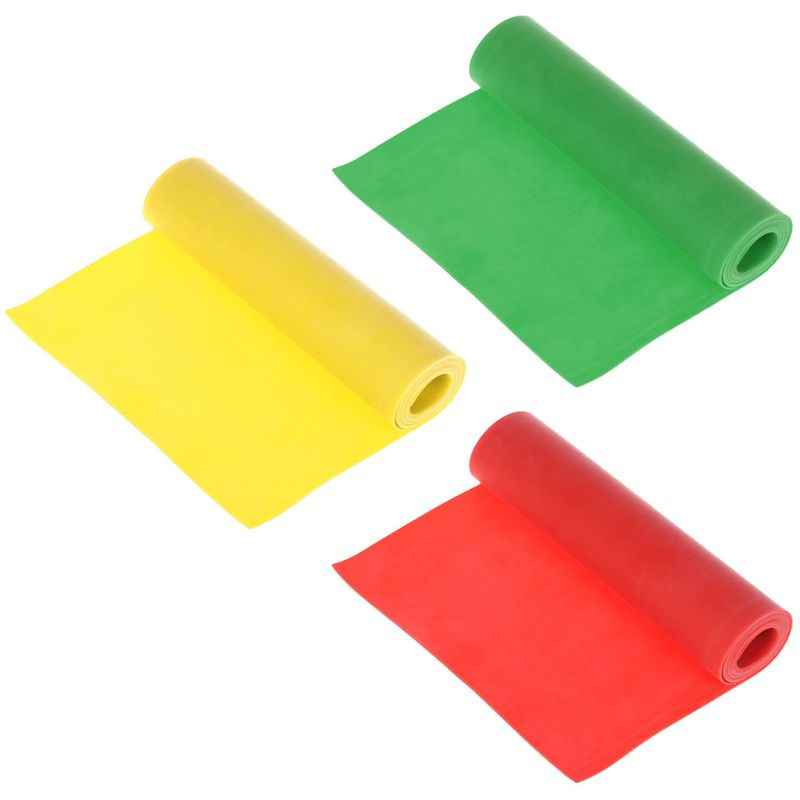 Slingshot Red&Yellow&Green Flat Band Rubber 1m 0.5mm Ultra Thin Powerful Elastic Catapult Hunting