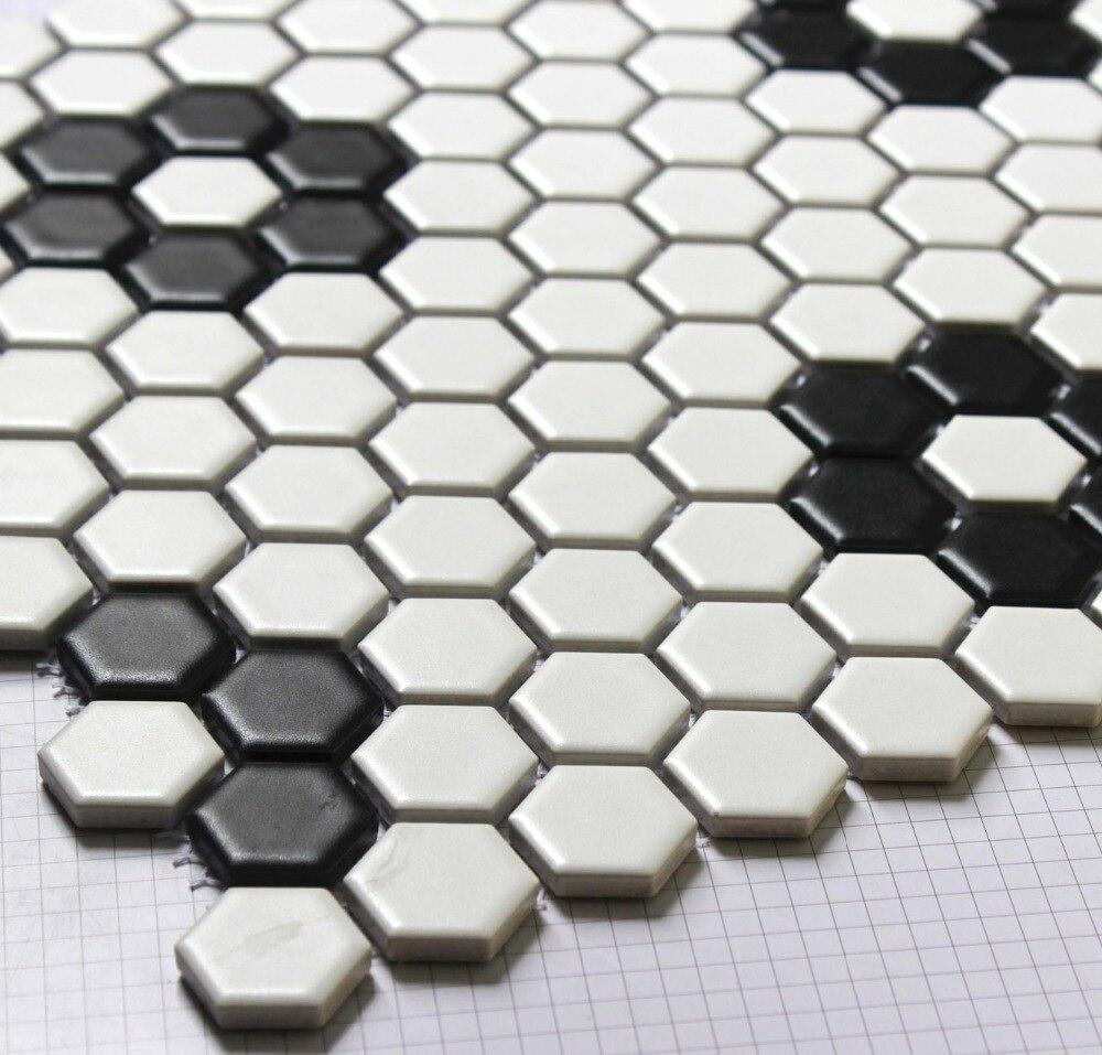 - Hexagon Mosaics Tile Black And White Parquet Mosaic Puzzled Tiles