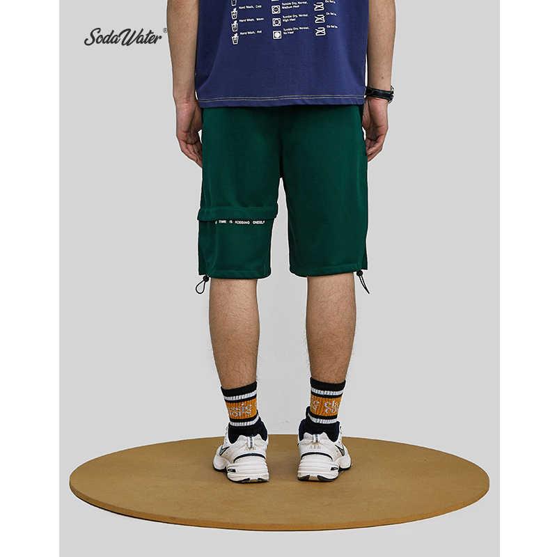 SODAWATER na co dzień szorty męskie marki nowe spodenki na desce 2019 nowy styl hafty druku wysokiej talii moda krótkie letnie szorty męskie 9364 S
