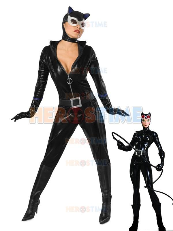 Nova Metálico Brilhante Zentai Superhero Catwoman Catsuit Cosplay Traje Festa de Halloween