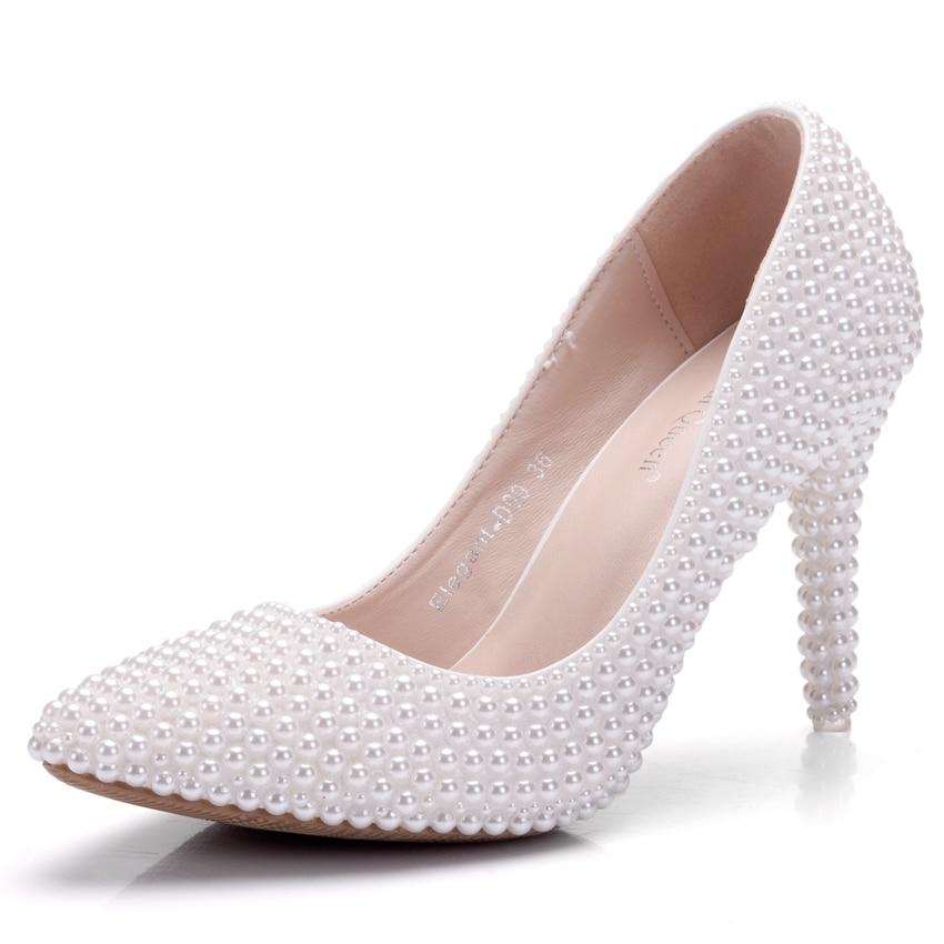 Shoes De Sacs Mariage Talons Assortis Bourse Mariée La Partie Bags Hauts Perle Avec Chaussures Les Reine Femmes Pompes À Cristal Robe Blanc wAfRqxt