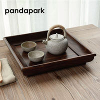 Pandapark Japan Style Wooden Tea Tray Puer Oolong Chinese Tea Set Teapot Serving Tray Home Decoration Accessory Dienblad PPM024