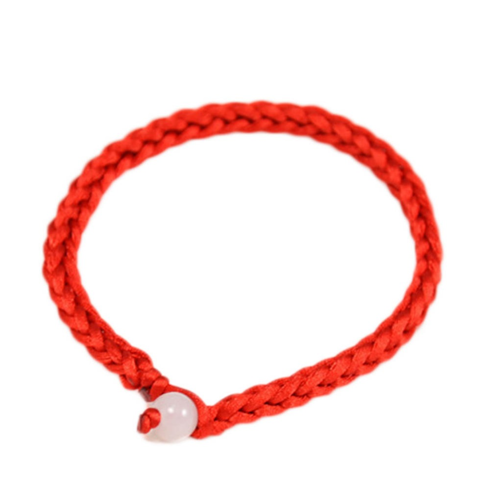 Simple Style Classic Lucky Chinese Braided Red String Rope Cord Bracelet Gift