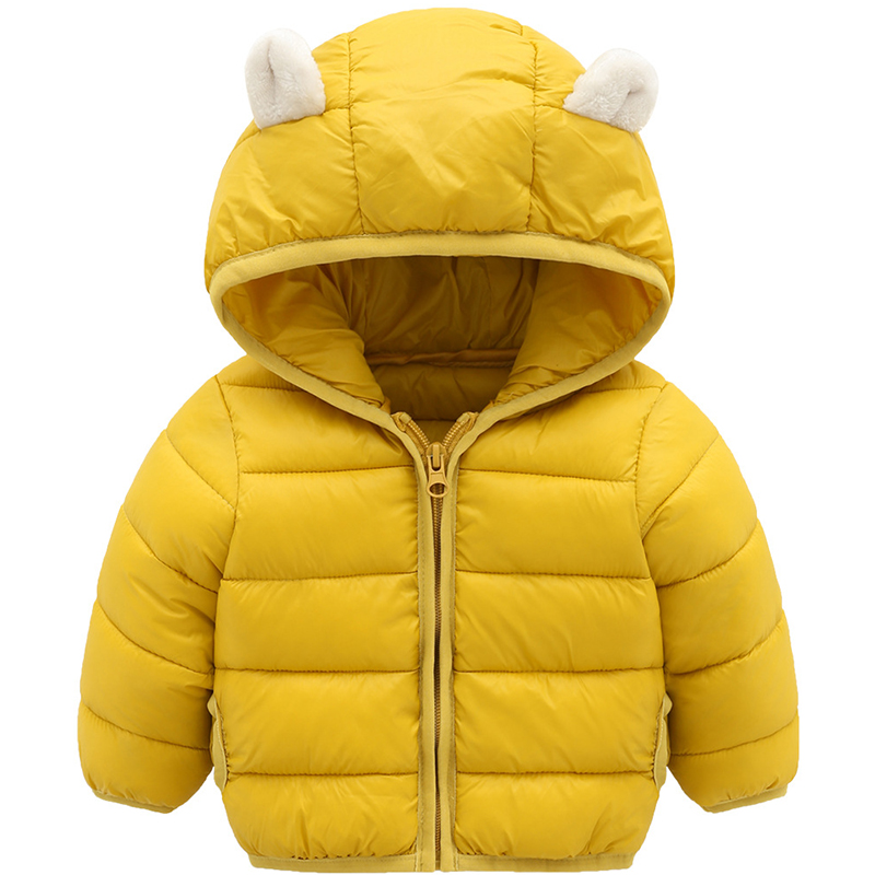New Girls Winter Jackets Boys Cartoon Style Girl Fashion Outerwear Baby Girls Clothes Hooded Jacket for Girls Cotton Parkas цена