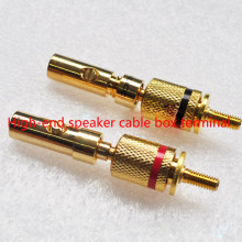 4pcs/lot High-end speaker cable box terminal block pure copper