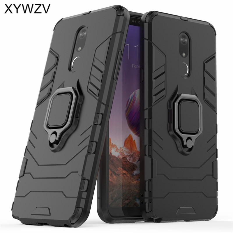 Image 2 - For LG Stylo 5 Case Soft Rubber silicone Hard Armor Metal Finger Ring Holder Phone Case For LG Stylo 5 Back Cover For LG Stylo 5-in Fitted Cases from Cellphones & Telecommunications