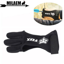 1pc Archery Finger Guard 3 Glove Protect Tab Cow Leather Durable Outdoor Sports Shooting Accessories