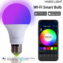 Home LED WIFI App RGBW bulbs 60W Equivalent Smart bulb lamp Music E27 Dimmable Smart Bulb lamp link Alexa Echo plus Goolge Home