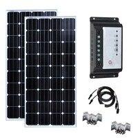 Solar Kit 150w 300w Solar Panel 150w 12v Monocrystalline Solar Controller 12v/24v 20A Z Bracket Mount Car Caravan Camp Boat
