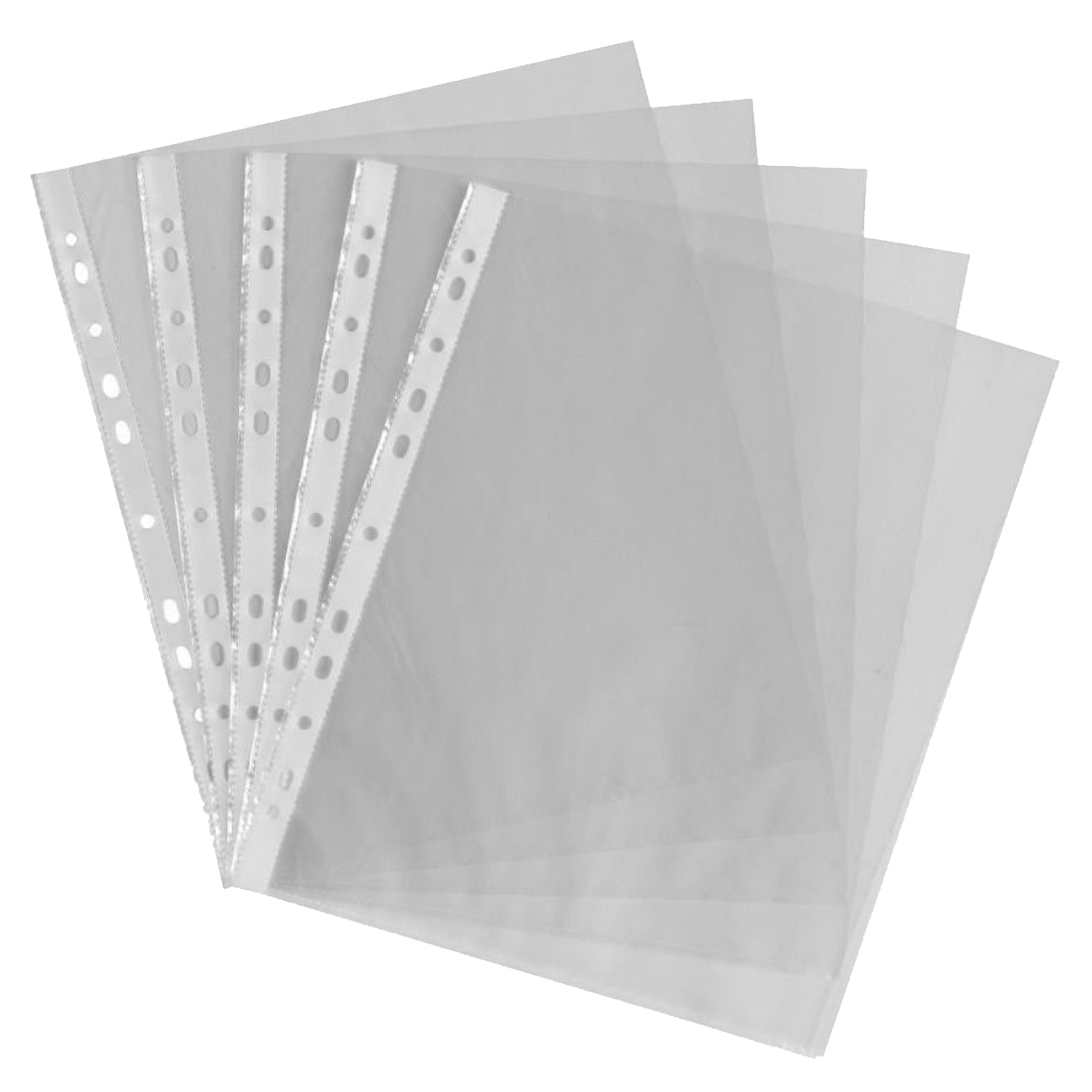 A4 Clear Plastic Punched Pockets / Wallets / Sleeves 200 Pcs