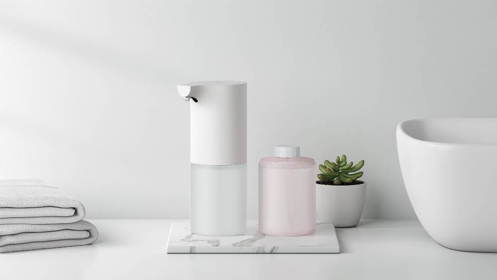 (Liquid Optional ) Xiaomi Automatic Foaming Hand Washer Mi Home Soap Dispenser 0.25s Infrared Auto Induction Foaming Smart Home